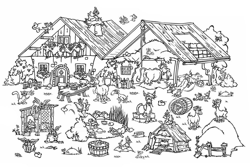 malvorlagen für kinder  kinderbauernhof flachau